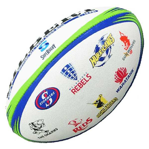 【ギルバート】 スーパーラグビー・オールチームロゴ ラグビーボール5号球 #GB-9394 【スポーツ・アウトドア:ラグビー:ボール】