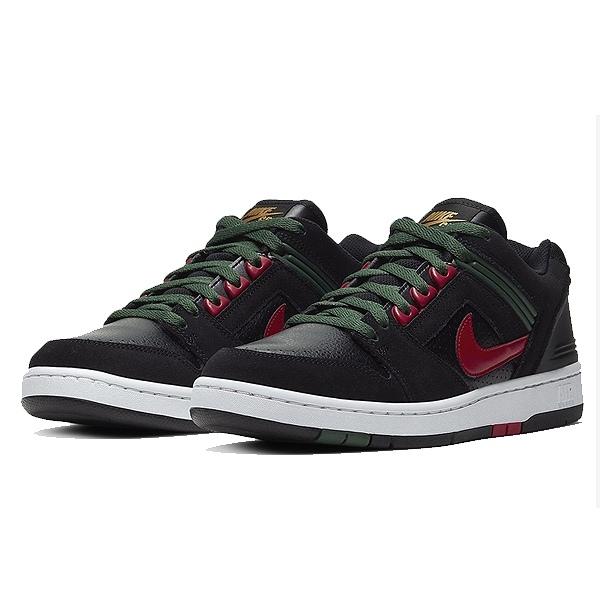 【ナイキ】 ナイキ SB フォース 2 ロ― [サイズ:26.5cm(US8.5)] [カラー:ブラック×ジムレッド×ディープフォレスト] #AO0300-002 【靴:メンズ靴:スニーカー】【AO0300-002】