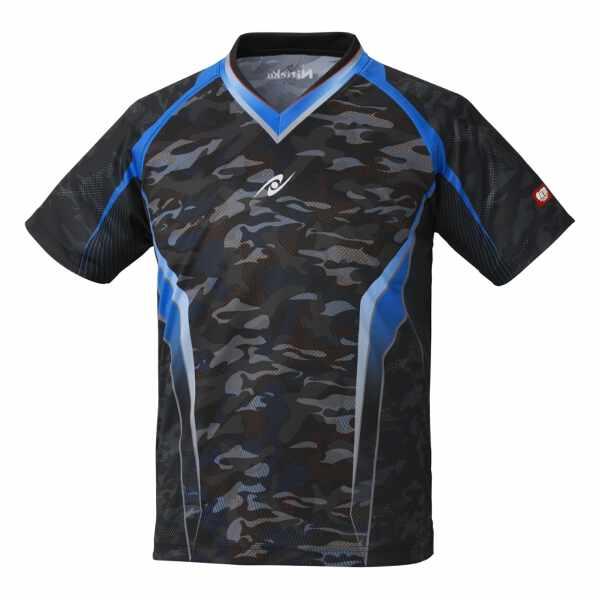 【ニッタク】 スカイカモフラシャツ(ユニセックス) [サイズ:J130] [カラー:ブラック] #NW-2193-71 【スポーツ・アウトドア:卓球:ウェア:メンズウェア:シャツ】