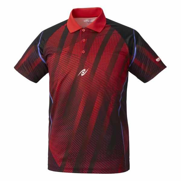 【ニッタク】 サイディングシャツ(ユニセックス) [サイズ:M] [カラー:レッド] #NW-2194-20 【スポーツ・アウトドア:卓球:ウェア:メンズウェア:シャツ】
