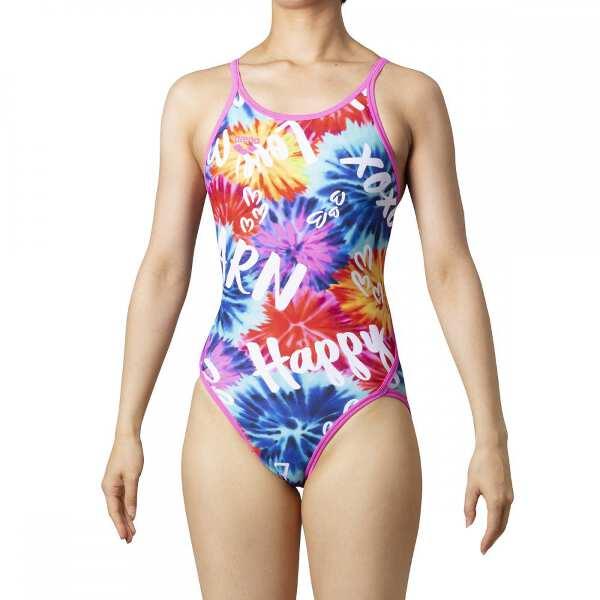 【アリーナ】 TOUGHSUIT スーパーフライバック [サイズ:M] [カラー:マルチ×ピンクF×ピンク] #SAR-0110W-MLT 【スポーツ・アウトドア:水泳:競技水着:レディース競技水着】