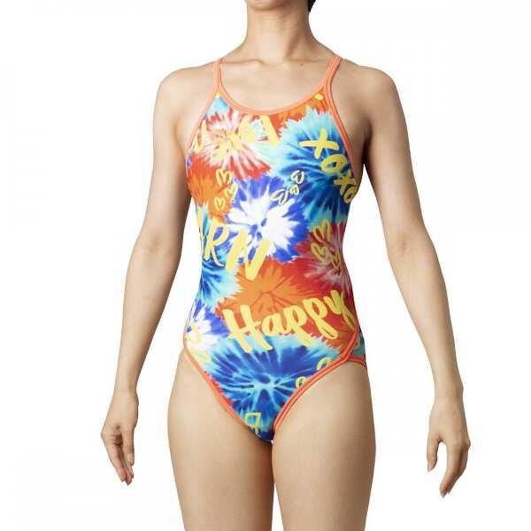 【アリーナ】 TOUGHSUIT スーパーフライバック [サイズ:L] [カラー:ターコ・レッド×オレンジF×イエロー] #SAR-0110W-TQRD 【スポーツ・アウトドア:水泳:競技水着:レディース競技水着】