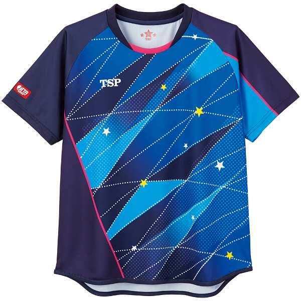 【ティーエスピ―】 卓球ゲームシャツ レディスフリッシュシャツ [サイズ:3XL] [カラー:ネイビー] #032419-0100 【スポーツ・アウトドア:その他雑貨】