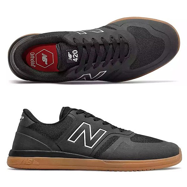 【最大4000円offクーポン(要獲得) 5/7 9:59まで】 【送料無料】 ニューバランス ヌメリック NM420GUM [カラー:ブラック×ガム] [サイズ:26.5cm (US8.5) Dワイズ] 【ニューバランス: 靴 メンズ靴 スニーカー】【NEW BALANCE New Balance ML801】