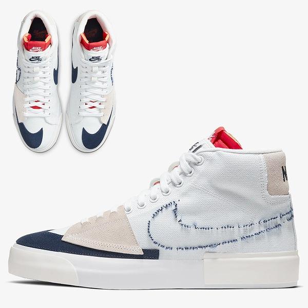 【ナイキ】 ナイキ SB ズーム ブレザ― ミッド エッジ [サイズ:28.5cm(US10.5)] [カラー:ホワイト×ユニバーシティレッド×サミットホワイト×ミッドナイトネイビー] #CI3833-100 【靴:メンズ靴:スニーカー】【CI3833-100】