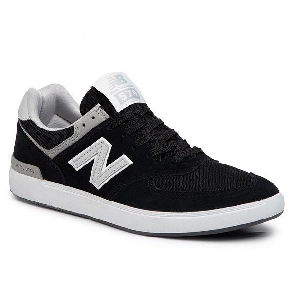 【5%off+最大3000円offクーポン(要獲得) 5/19 9:59まで】 【送料無料】 ニューバランス ヌメリック AM574BLS [サイズ:26.5cm (US8.5) Dワイズ] [カラー:ブラック×グレー] 【ニューバランス: 靴 メンズ靴 スニーカー】【NEW BALANCE】