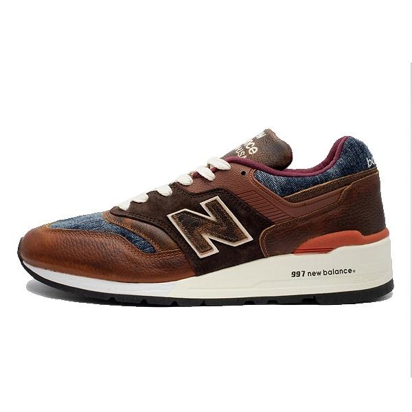 【5%off+最大3000円offクーポン(要獲得) 5/19 9:59まで】 【送料無料】 ニューバランス M997SOC [カラー:ブラウン×デニム] [サイズ:25.5cm(US7.5) Dワイズ] [MADE IN USA] 【ニューバランス: 靴 メンズ靴 スニーカー】【NEW BALANCE New Balance M997SOC】