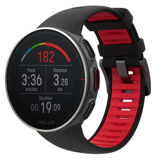 【ポラール】 バンテージ V チタン HR 国内正規品(H10心拍センサー付) [カラー:ブラック×レッド] #90075339 【スポーツ・アウトドア:ジョギング・マラソン:GPS】