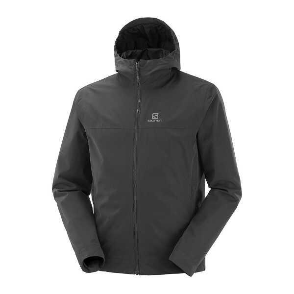 【サロモン】 エクスプローラ― ウォータープルーフジャケット(メンズ) [サイズ:L] [カラー:ブラック] #LC1267600 【スポーツ・アウトドア:その他雑貨】