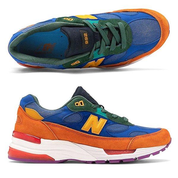 ニューバランスM992MCカラー マルチカラーサイズ 27 5cm US9 5DワイズMADE IN USA靴 メンズ靴 スニーカーM9928Pn0kwO