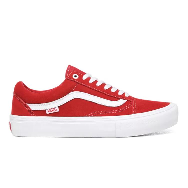 【バンズ】 バンズ オールドスクール プロ (Suede) [サイズ:27.5cm(US9.5)] [カラー:レッド×ホワイト] #VN000ZD4AJL 【靴:メンズ靴:スニーカー】【VN000ZD4AJL】