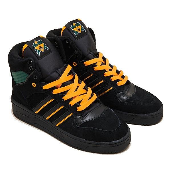 【5%off+最大3000円offクーポン(要獲得) 5/19 9:59まで】 【送料無料】 アディダス スケートボーディング リバリー HI × ナケル・スミス [サイズ:26.5cm(US8.5)] [カラー:ブラック×ゴールド×グリーン] #FX2550 【アディダス: 靴 メンズ靴 スニーカー】【ADIDAS】