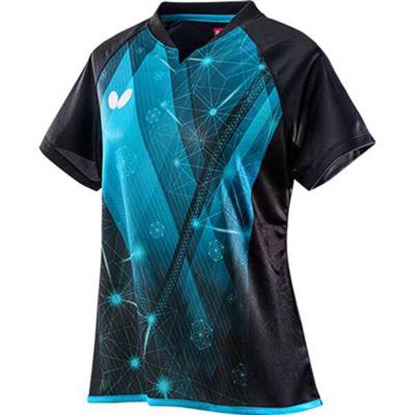 【バタフライ】 エルフィル·シャツ レディース 卓球ゲームシャツ [サイズ:O] [カラー:アリスブルー] #45649-198 【スポーツ·アウトドア:卓球:ウェア:レディースウェア:シャツ】