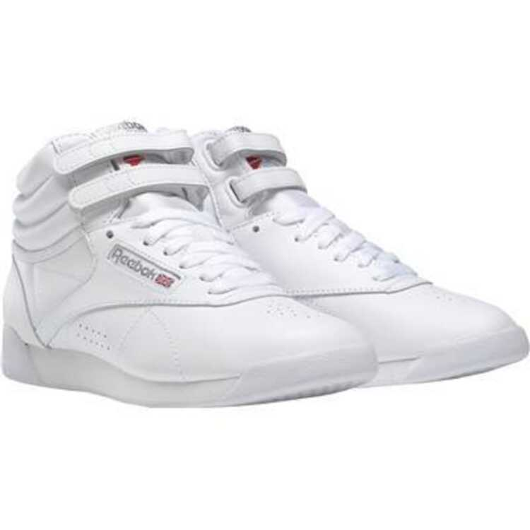 【リーボック】 フリースタイルハイ [サイズ:23.5cm] [カラー:ホワイト×シルバー] #2431 【靴:メンズ靴:ウォーキングシューズ】