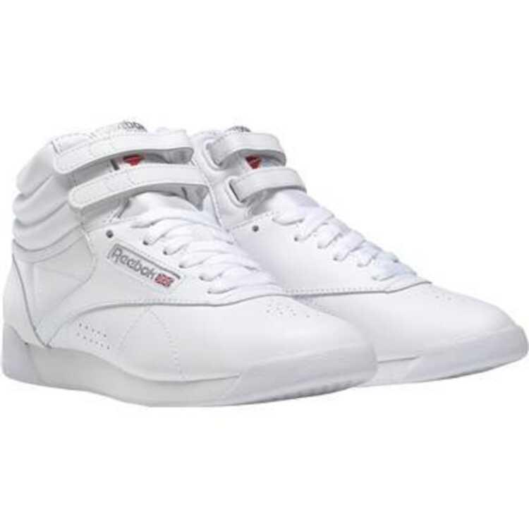 【リーボック】 フリースタイルハイ [サイズ:24.5cm] [カラー:ホワイト×シルバー] #2431 【靴:メンズ靴:ウォーキングシューズ】