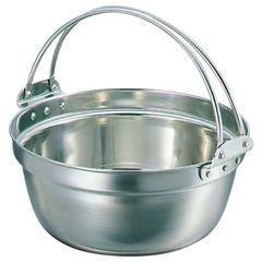 【和田助製作所】 SW 18-8 吊付 料理鍋 39cm 【キッチン用品:調理用具・器具:両手鍋:36cm~】【SW 18-8 吊付 料理鍋】