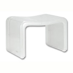 【シンカテック】 CLOUD 風呂椅子 角 ホワイト 【日用品・生活雑貨:洗面・バス用品:グッズ:風呂イス】