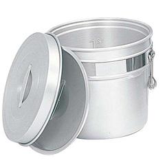 【オオイ金属】 アルマイト 段付二重食缶 250-R 16L φ320×H317 【キッチン用品:容器・ストッカー・調味料入れ:保存容器(材質別)】【アルマイト 段付二重食缶】