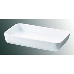 ロイヤル 角 グラタン皿 No.500 36cm ホワイト