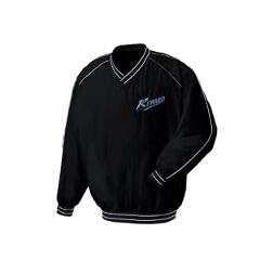 【レワード】 Vネックコート 野球グランドコート [カラー:ブラック] [サイズ:M] #GW-01 【スポーツ・アウトドア:野球・ソフトボール:ウェア:グランドコート】