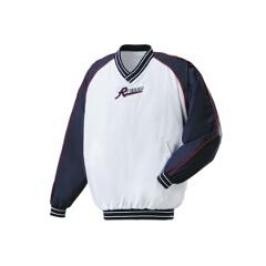 Vネックコート 野球グランドコート [カラー:ホワイト×ネイビー] [サイズ:L] #GW-01