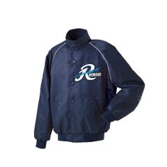 グランドコート セミロングカラー(ボタン付) 野球グランドコート [カラー:ネイビー] [サイズ:L] #GW-04