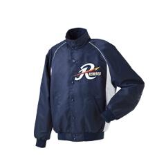 グランドコート セミロングカラー(ボタン付) 野球グランドコート [カラー:ネイビー×シルバーグレー] [サイズ:M] #GW-04