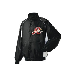 グランドコート セミロングカラー(ボタン付) 野球グランドコート [カラー:ブラック×シルバーグレー] [サイズ:M] #GW-04