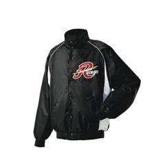 グランドコート セミロングカラー(ボタン付) 野球グランドコート [カラー:ブラック×シルバーグレー] [サイズ:L] #GW-04