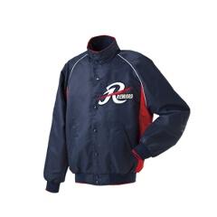 グランドコート セミロングカラー(ボタン付) 野球グランドコート [カラー:ネイビー×レッド] [サイズ:L] #GW-04