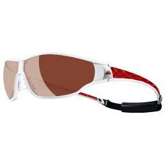 【アディダス】 A190 TYCANE PRO 偏光レンズ スポーツサングラス [カラー:シィニーホワイトレッド] [サイズ:S] #A190016052 【スポーツ・アウトドア:スポーツウェア・アクセサリー:スポーツサングラス】