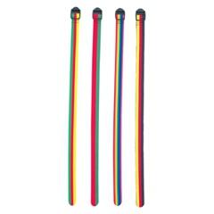 ストラップキットL(ストライプ) [カラー:グリーン×レッド] [サイズ:幅25mm×長さ100cm] #EBY366-002 2本組