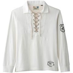 【カンタベリ―】 L/S ラガーシャツ [カラー:オフホワイト] [サイズ:3L] #RA44054 【スポーツ・アウトドア:スポーツ・アウトドア雑貨】