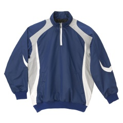 【デサント】 野球用 長袖プルオーバーコート STD-428 [カラー:ロイヤルブルー×シルバー×ホワイト] [サイズ:M] #STD-428 【スポーツ・アウトドア:野球・ソフトボール:ウェア:グランドコート】