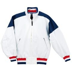 【デサント】 野球用 グラウンドコート DR-202 [カラー:ホワイト×ネイビー] [サイズ:L] #DR-202 【スポーツ・アウトドア:スポーツ・アウトドア雑貨】