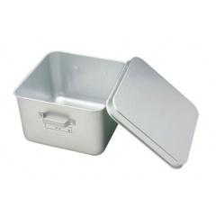 【オオイ金属】 アルマイト フルーツ食缶(蓋付) 255-A 305×305 【キッチン用品:容器・ストッカー・調味料入れ:保存容器(材質別)】【アルマイト】