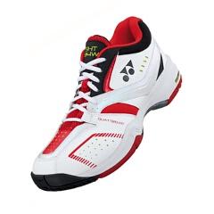【ヨネックス】 テニスシューズ パワークッション ワイド 134 [カラー:ブラック×レッド] [サイズ:22.5cm] #SHT-134W 【スポーツ・アウトドア:テニス:競技用シューズ:メンズ競技用シューズ】