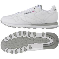 【リーボック】 リーボッククラシック メンズクラシックレザ― CL LTHR [カラー:INTホワイト×グレー] [サイズ:26.5cm] #2214 【靴:メンズ靴:ウォーキングシューズ】