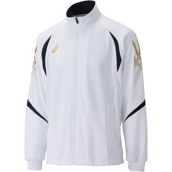 【アシックス】 トレーニング用 トレーニングジャケット XAT176 [カラー:ホワイト×ブラック] [サイズ:L] #XAT176 【スポーツ・アウトドア:その他雑貨】