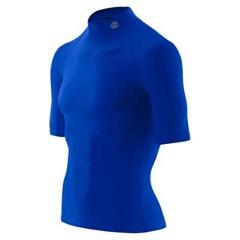 【スキンズ】 マルチ メンズショートスリーブトップ(モックネック) 日本正規品 [カラー:ブルー] [サイズ:M] #J57189016D-BLU 【スポーツ・アウトドア:その他雑貨】:ビューティーファイブ