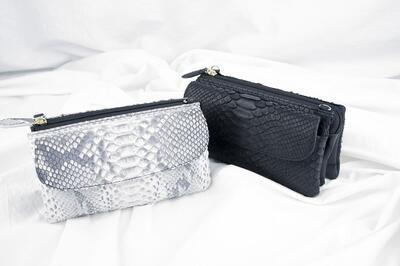 Costoroma ダイヤモンドパイソン ポーチウォレット 【COSTOROMA ポーチ バッグインバッグ 財布 ポシェット ハンドルバッグ 本革バッグ】
