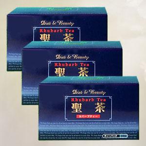 【送料無料】聖茶ルバーブティー 30包×3箱セット ※10種類のハーブをブレンドした健康茶