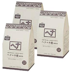 好評 【送料無料】 黒茶系 ナイアードヘナ +木藍 +木藍 黒茶系 400g ×3個 ×3個, イナギシ:e02cc2c7 --- canoncity.azurewebsites.net