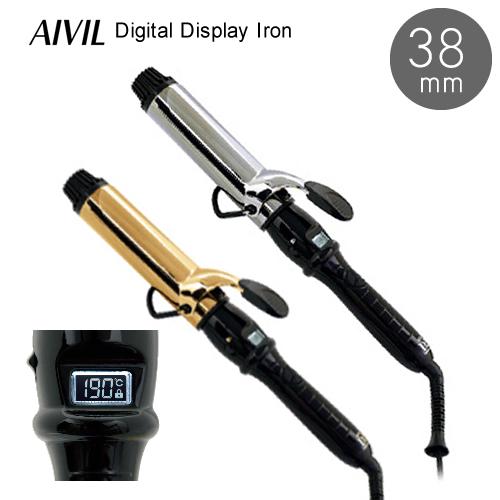 【送料無料】AIVIL アイビル デジタルディスプレイアイロン D2 38mm ヘアアイロン コテ カール 軽い 高機能 軽量化 使いやすい おすすめ 安全 プレゼント サロン プロ 簡単