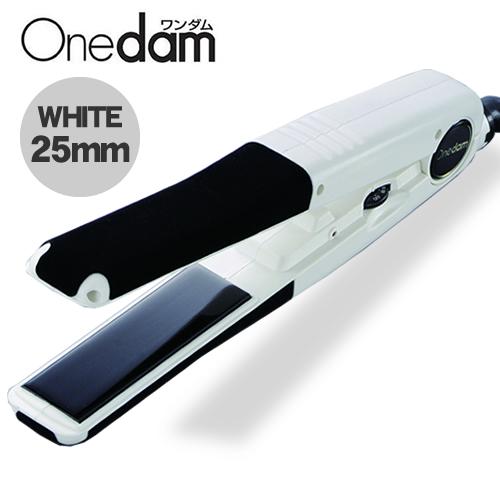 【送料無料】ワンダム ストレートアイロン25mm AHI-251 ヘアアイロン くせ毛 ストレート 白 ホワイト 梅雨 ウィック対応 まっすぐ