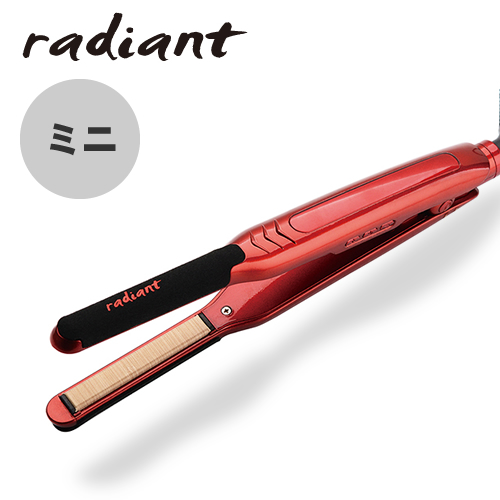 【送料無料】シルクプロアイロン ラディアント アイロンプレートミニ9mm (レッド) ストレート くせ毛 おすすめ 人気 美容 まっすぐ メンズ ダメージレス