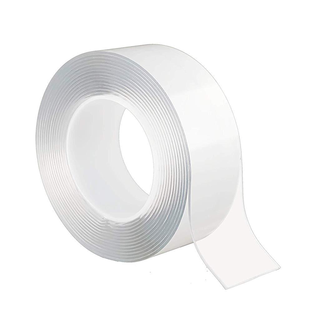送料無料 通常3~7日でお届けします 両面テープ 授与 魔法テープ テープ 超強力 のり残らず 繰り返し 公式 耐熱 洗濯可能 5cmx2mmx3m 滑り止め 強力 防水