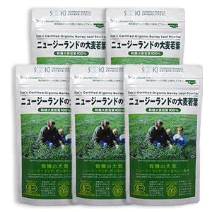 【送料無料】【5袋】ニュージーランドの大麦若葉 (ティムさんの大麦若葉) お徳用90g(粉末) 有機JAS認定品