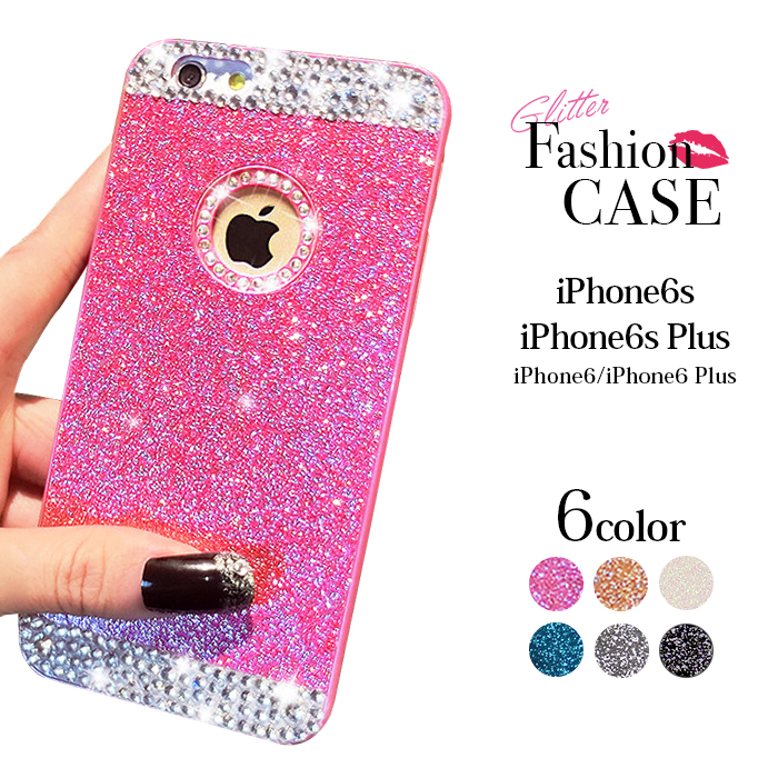 promo code 13018 3395d The packet iPhone6 iPhone6s case iPhone 6s plus iPhone6 pink gold clear  smartphone case iphone6s case transparent cover glitter eyephone 5s SE  cover ...