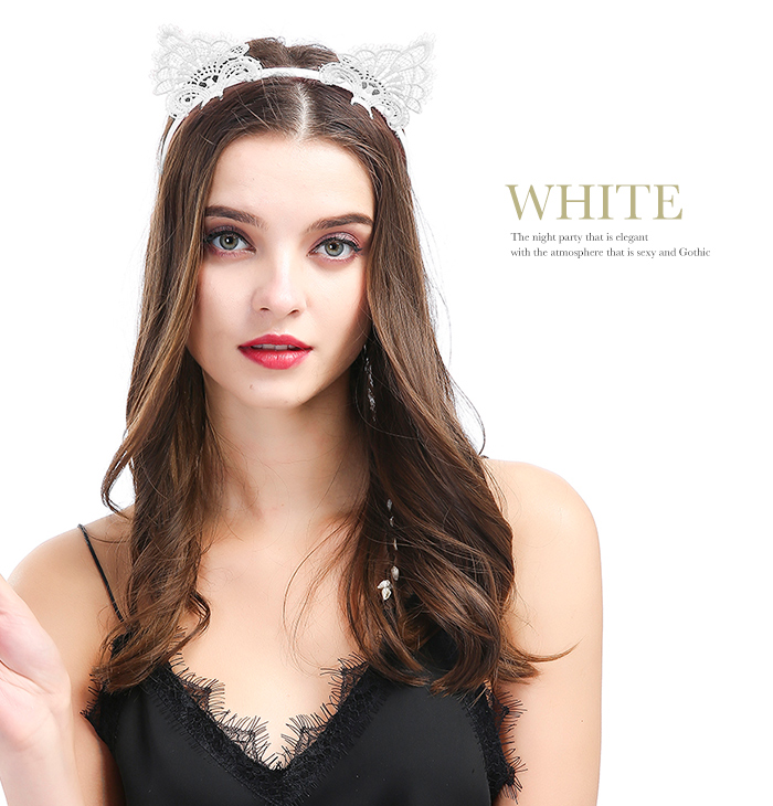 Sexy white cat costume
